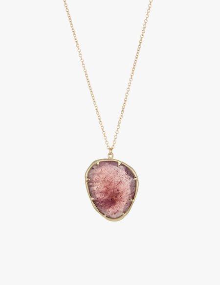 Kathryn Bentley Pink Sapphire Organic Amulet Pendant