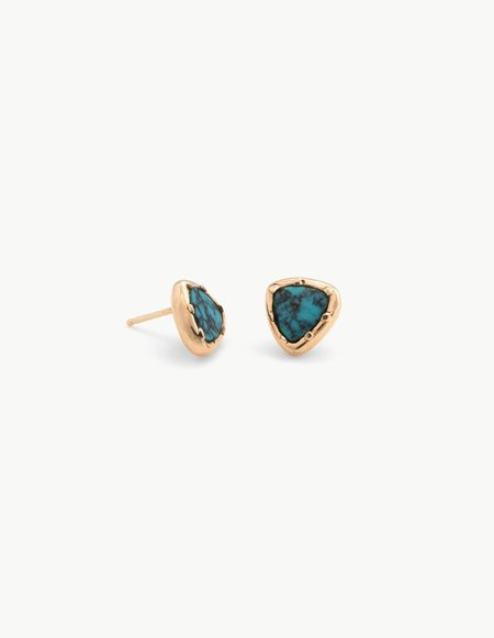 Kathryn Bentley Turquoise Organic Amulet Studs