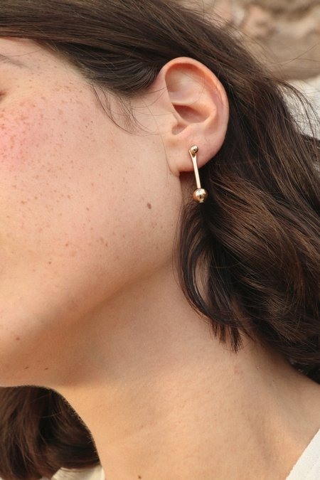 Rock Salt Vintage Small Pera Earrings