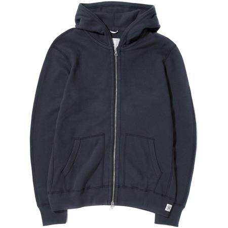 Reigning Champ Mesh Double Knit Zip Hoodie - Steel