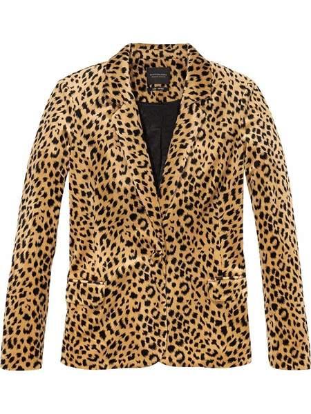 Scotch & Soda Tailored Velvet Blazer - Leopard