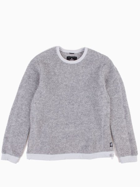 Reigning Champ Shearling Fleece Crewneck  - Heather Grey