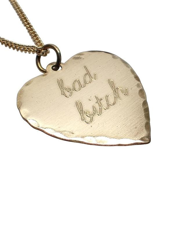 In God We Trust Bad Bitch Sweet Nothing Necklace - Brass