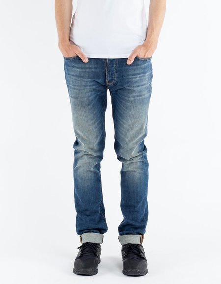 Nudie Dude Dan Highway Worn Washed Indigo