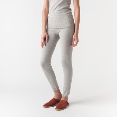 EVAM EVA Cotton Cashmere Leggings in Grey