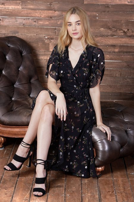Cosette Clothing Elicia Silk Wrap Dress