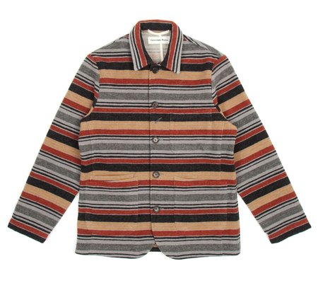 Universal Works Bakers Chore Jacket - Stripe Blanket