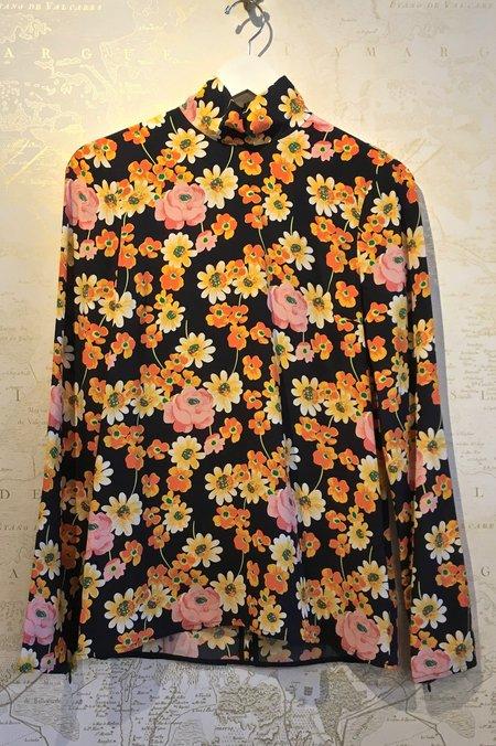 Joseph Floral Silk 'Vienna-Field' Mock Neck Blouse