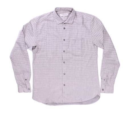 YMC Check Curtis Shirt - Light Grey