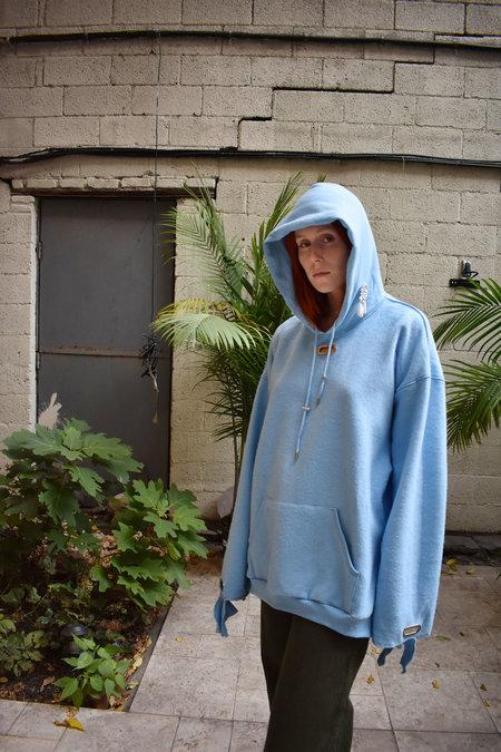 Collina Strada Earring Hoodie - Light Blue