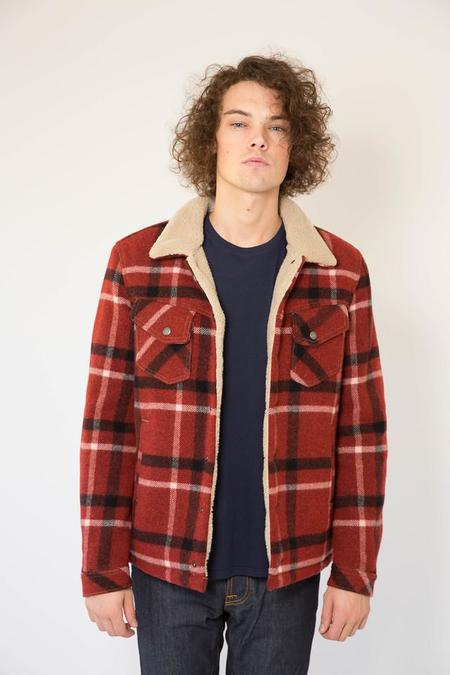 Nudie Lenny Wool Check Ruby