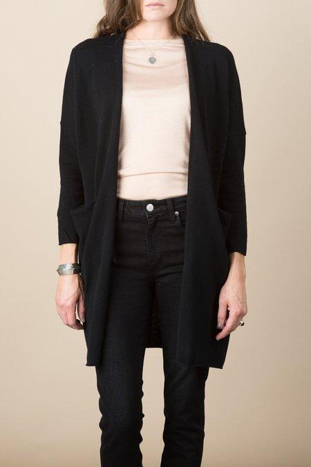 Evam Eva Wool Robe In Black