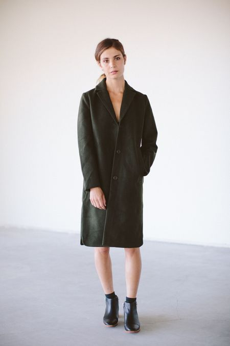 Selfhood Green Pea Button Up Jacket