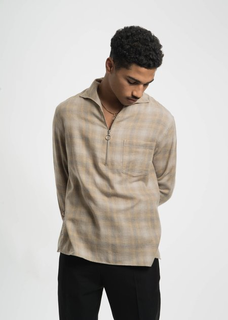 CMMN SWDN Lead Faded Check Shirt