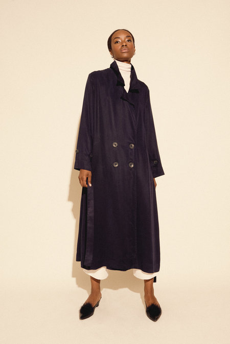 Kamperett Fritz Duster Coat - Midnight Navy