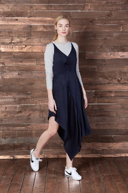 Cosette Clothing Mayne asymmetric Slip Dress
