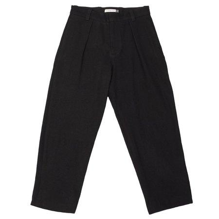 Olderbrother Pleated Trouser Washi Wool - Black Indigo