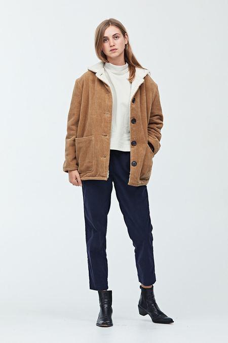 Semi Gloss Textured Fleece Lined Coat