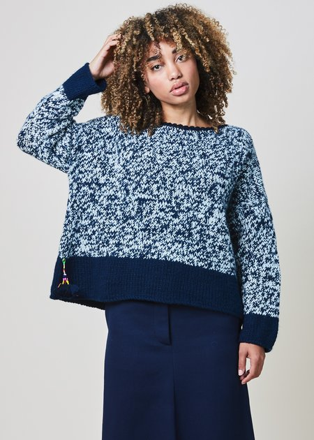 Pero Heather Knit Drop-Shoulder Sweater