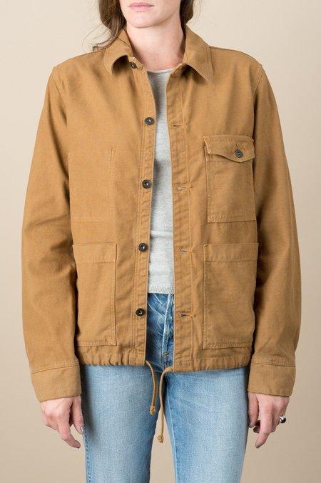 Homework Twill Work Jacket In Brown Duck