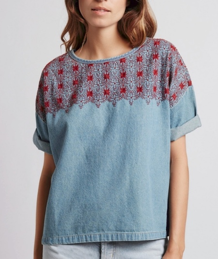 Current/Elliott Embroidered Top