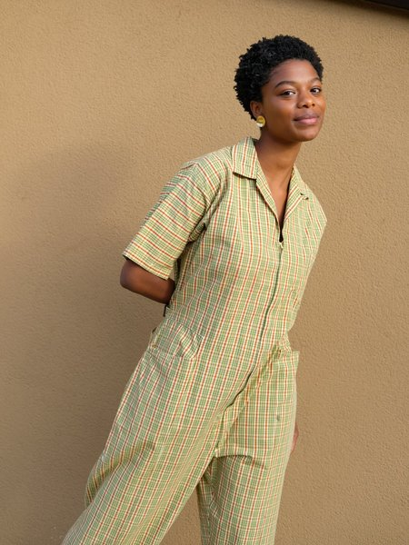 Shop Boswell VINTAGE PLAID COVERALLS