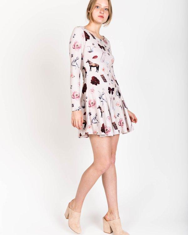 Samantha Pleet Crown Dress In Collage Print