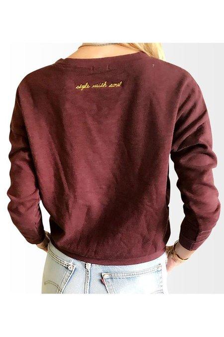 Road Twenty-Two Page Sweatshirt - Wine