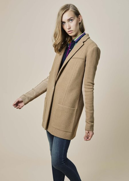 Nells Nelson Camel Hair Long Jacket