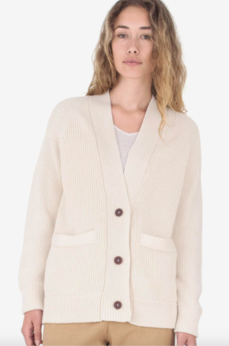 Mollusk Cove Cardigan - Natural