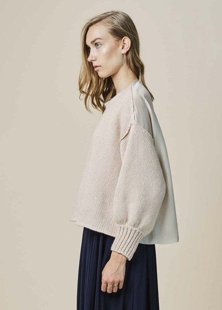 Louiza Babouryan Knit Sweater with Silk Back