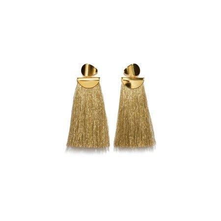 Lizzie Fortunato Crater Earrings in Metallic