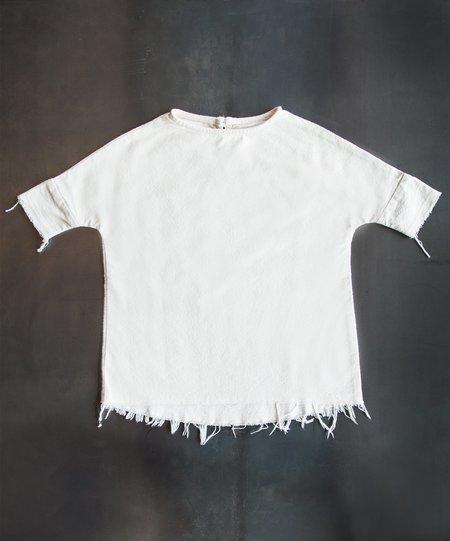 Kid's  Black Crane Mini Painter Dress - Cream
