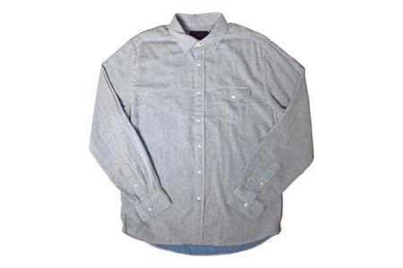 Grayers Hammond Double Cloth Shirt - Light Blue Heather