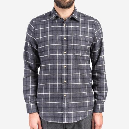 Portuguese Flannel Briteiro Flannel Shirt - Grey Plaid