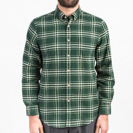 Portuguese Flannel Garra Flannel Shirt - Green Plaid