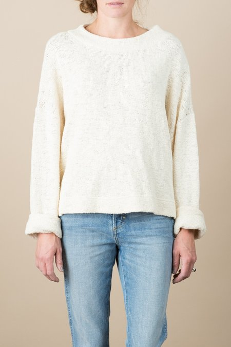 HACKWITH DESIGN HOUSE Mockneck Sweater In Cream