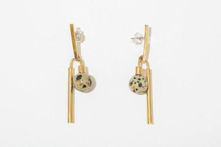 Quarry Adelaide Earrings - White Bronze Jasper
