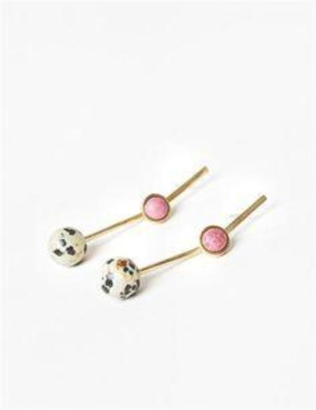 Quarry Annika Double Earrings - Dalmatian Jasper