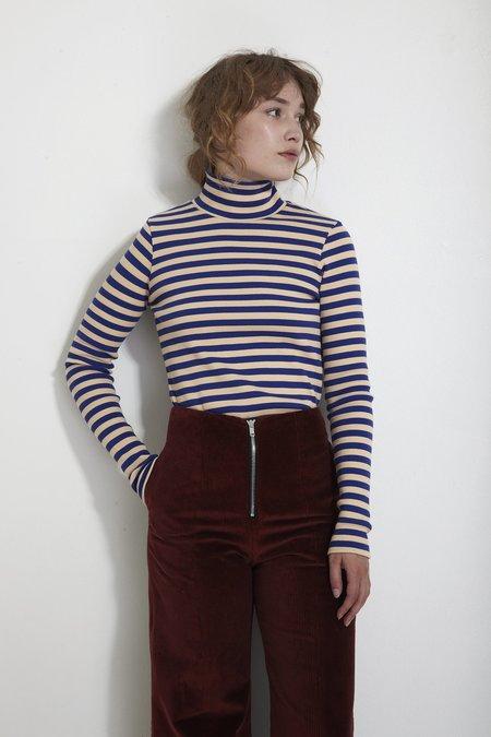 Mr. Larkin Pippa Top - Cobalt Stripe