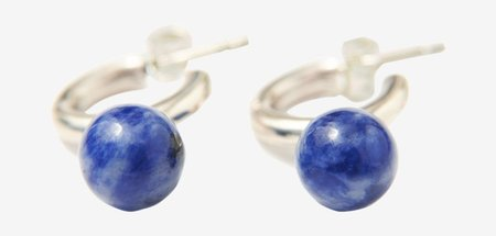 Quarry Small Asha Hoops - Sodalite