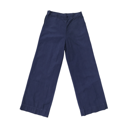Ali Golden Pima Cotton Twill Pant - Blue