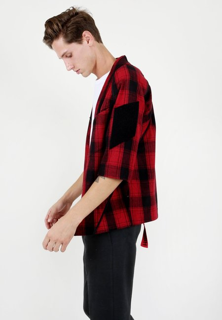 Abasi Rosborough ARC Desert Shirt - Red Tartan