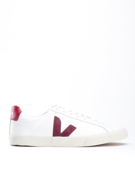 Veja Esplar Low Leather Sneaker Extra White Marsala
