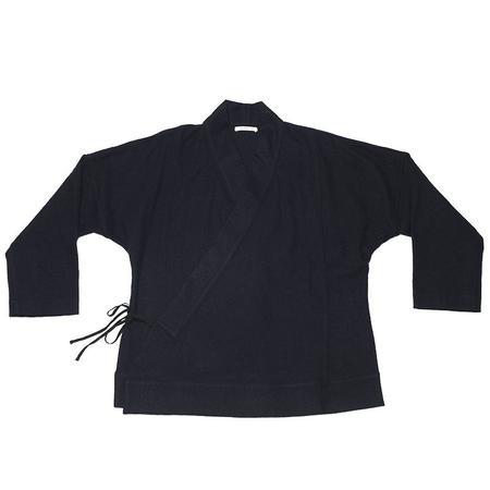 s.k. manor hill Folk Robe -  Navy Cotton / Wool