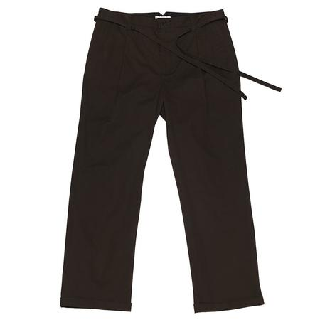s.k. manor hill Lansky Pant - Charcoal Brown Cotton