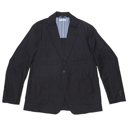 s.k. manor hill Tie Blazer - Navy/White Pinstripe Wool