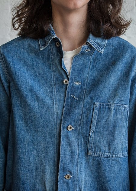 Chimala Damaged Denim Work Jacket - Vintage Wash