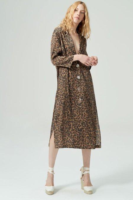 Hansen and Gretel Jane Silk Jacket - Leopard
