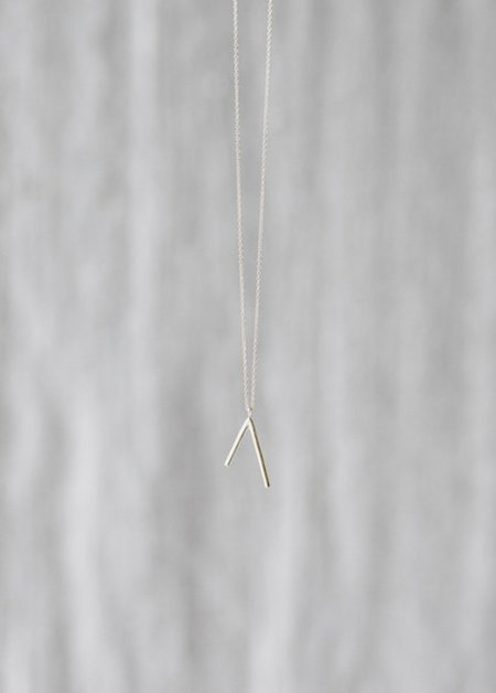 Another Feather Dart Necklace- Silver